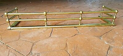 "Antique Brass Fireplace Fender 40"" Excellent Condition"