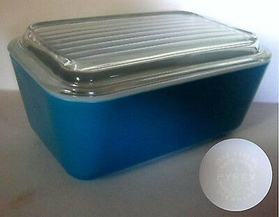 Vintage Covered Pyrex Baking and Refrigerator Glass Perfect For Butter