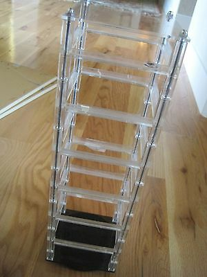 "Spinning Jewelry Rack Plastic Vintage17""x5"""