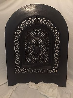 Antique Cast Iron Victorian Fireplace Summer Cover Door