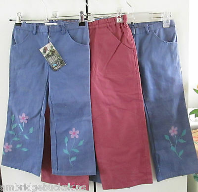 Bulk Monpiti Cotton 3/4 Capris Pants Size 5 & 6 Adjustable Embroidery Leg Cuffs