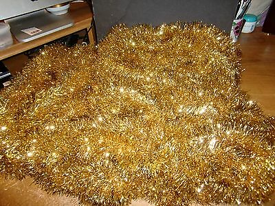 "Vintage 3"" Christmas Tree Tinsel Garland, Gold , 35 Yards In 6 Pieces"