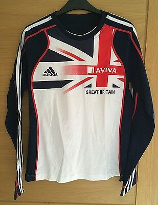 Adidas Great Britain Athletics Team GB Ladies Athlete Issue T-shirt Size 12 BNWT