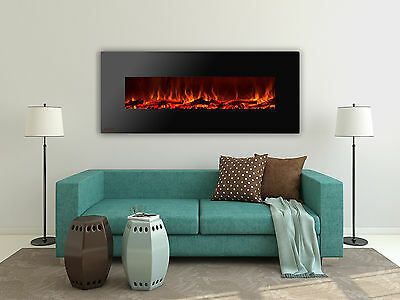 Ignis Royal 72 inch Wall Mount Electric Fireplace with Logs