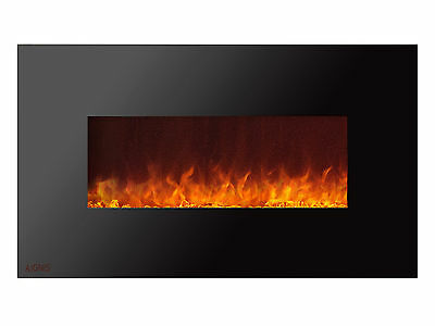 Ignis Royal 50 inch Wall Mount Electric Fireplace with Crystals