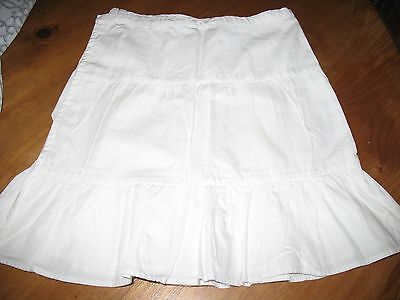 The White company girls cross over white skirt in age 7-8 years