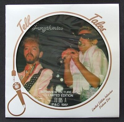 Eurythmics: Limited Edition Interview Picture Disc UK Vinyl (Tell Tales, 1987)