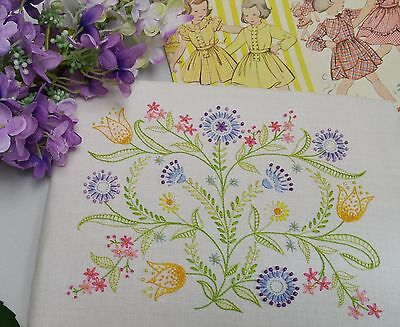 Transfered Embroidery Kit : Dotty Brights ; Beautiful Kits by Maggie Gee