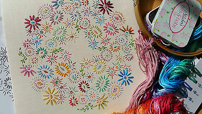 Beginners Embroidery Kit: Beginner Blossoms Bright :Beautiful Kits By Maggie Gee
