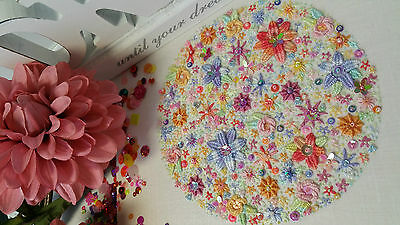'Maud' Embroidery Kit : Learn Woven Stitches : Beautiful Kits By Maggie Gee