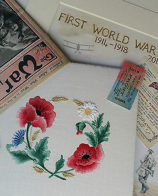 Embroidery Kit:Flanders Poppy:Beautiful Embroidery Kits from Maggie Gee