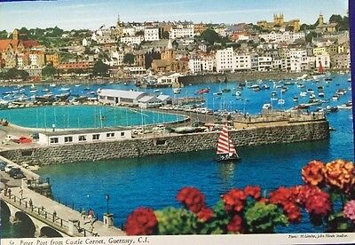 St Peter Port from Castle Cornet  Guernsey postcard  by John Hinde