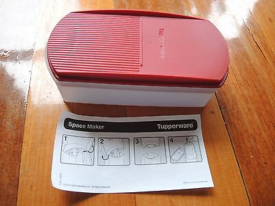 Tupperware space maker 350ml Cherry red oval container BRAND NEW