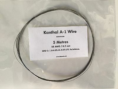 KANTHAL A1 RESISTANCE WIRE 28 AWG / 0.3 MM - 5 Metres -