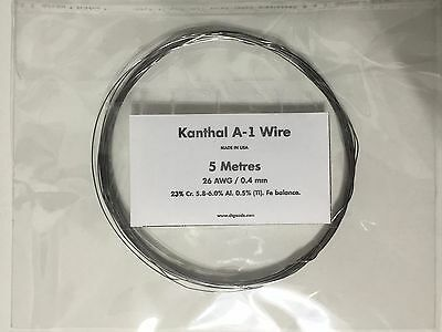 KANTHAL A1 RESISTANCE WIRE 26 AWG / 0.4 MM - 5 Metres -