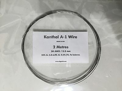 KANTHAL A1 RESISTANCE WIRE 24 AWG / 0.5 MM - 2 Metres -