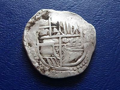 Spain Silver 8 Reales Cob Coin Nice Piece Of Eight Cob Coin Nice Detail