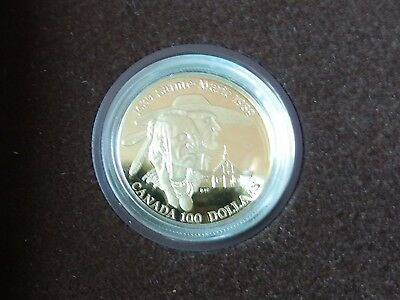 "Kanada: 100 Dollar ""Missionsstation in Ontario"" 1989 - 13,34 g Gold - RR!!"
