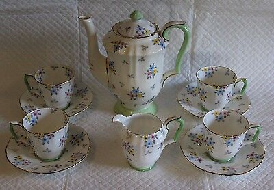 Crown Staffordshire F15476 Coffee Set for Four