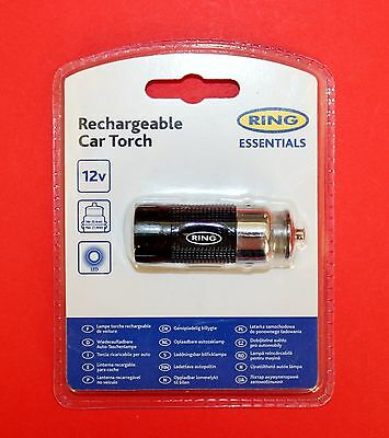 """RING Rechargeable Car LED Torch 12V """"NEW & SEALED"""""""