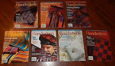7 Handwoven Magazines 2000 & 2001 Twill Celebrations Rugs Y1K Painting Beading