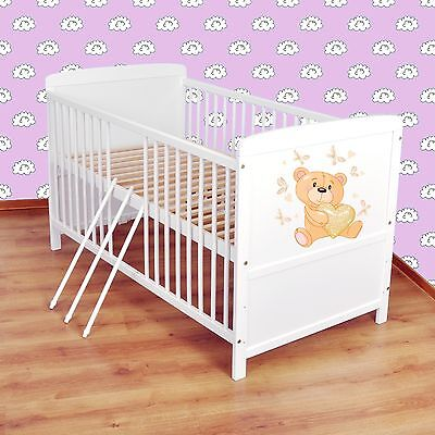 NEW WHITE 2in1 COT-BED 120x60 no 33 - RRP 129 GBP - REAL BARGAIN