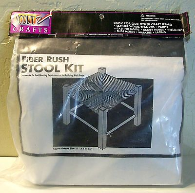 Foot Stool Kit-Fiber Rush- Seat Weaving,basketry-Do It Yourself