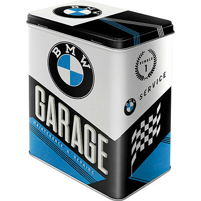 Licensed BMW Box Vintage Motorcycle Tin Can canister Advertisement 022
