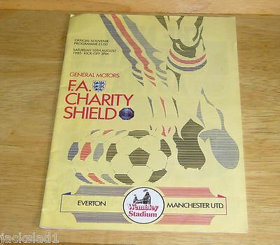 Manchester United football programme 1985 FA Charity Shield Final v Everton