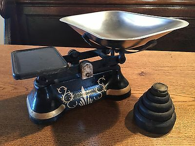 Traditional used Victorian Style/vintage Cast Iron Kitchen Scales
