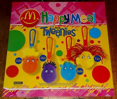 Mcdonalds In Store Promotional Translite Happy Meal Sign Teenies