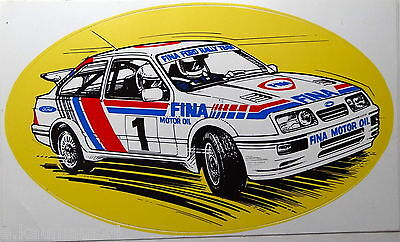 Aufkleber FORD SIERRA FINA Rallye Team Sticker 80er Rally XR4i Autocollant