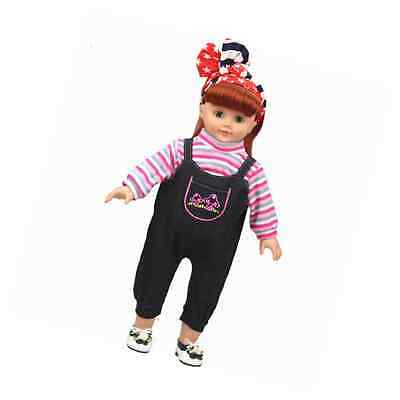 Shero 14 - 16 Inches Baby Doll's Clothes Denim Suit (Pink)