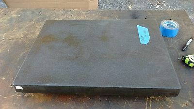 18 X 24 x 4 GRANITE SURFACE PLATE TWO 2 LEDGE .0001