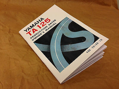 Yamaha TA125 Owners Manual - reproduction TZ, AS3, TA 125, GYT *Parts Available*