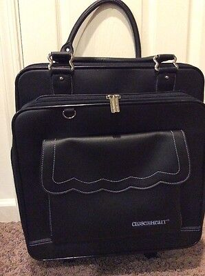 Close To My Heart Rolling Tote CTMH Scrapbook Organizer Black