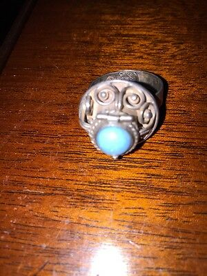 Vintage Mexican Taxco poison ring