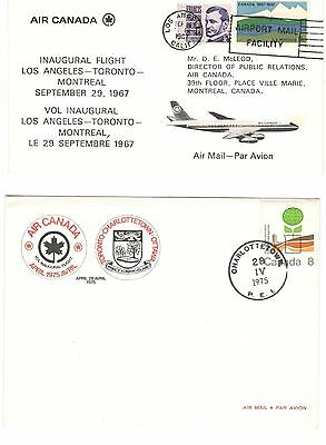 Canada Covers Air Canada Inaugural Flights X 4 Different (First Flights) Lot 2