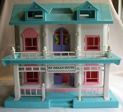Vintage My Dream House Folding Dollhouse Tons of Accessories Trade Center TV