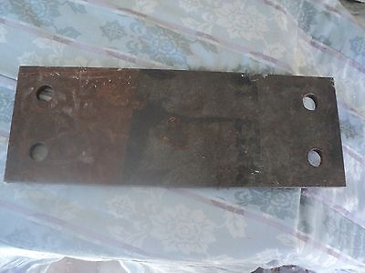 """1/2"""" Steel Plate / Bracket , 1/2"""" x 6"""" x 16 5/8"""" with holes"""
