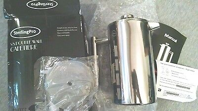SterlingPro Double Wall Stainless Steel French Coffee Press 1L Cafetiere