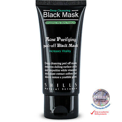 Shills AUTHENTIC Deep Cleansing Peel-Off Black Face Mask Blackhead Remover 50ml