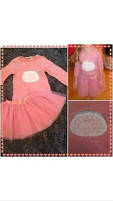 Party Girls Stunning MAYORAL chic Pink Long Sleeve Top & Tutu Quality  Age 6