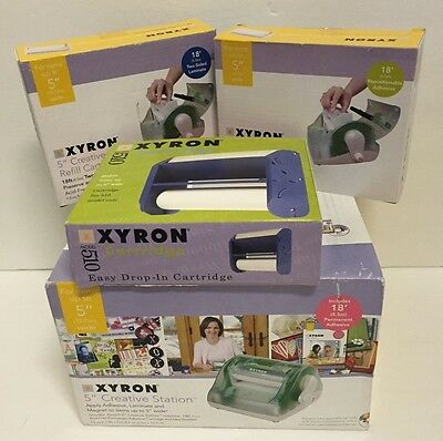 "Xyron 5"" Inch Creative Station w/Two Sided Laminate & Adhesive Refill Cartridges"