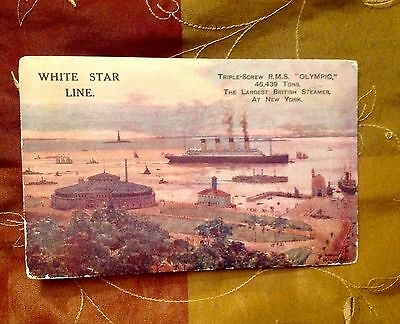 Olympic Stamped Paquebot Jun 11 White Star Line (Titanic Brittanic Sister Ship)