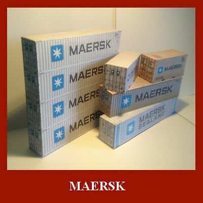 Maersk Collection Card Kits Model Shipping Containers x 12 inc Free N Gauge