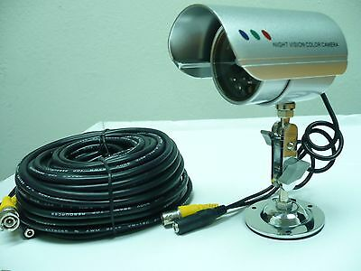 Wired Camera with Power Supply & 60FT AV Cable.