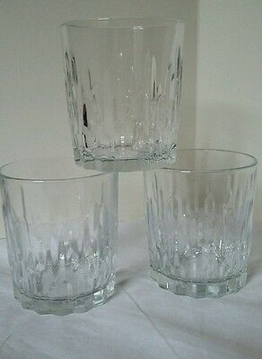 Vintage/Retro 1970's Icicles Bark Whisky Tumblers Drinking Glasses