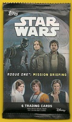 2016 Topps - STAR WARS: Rogue One Mission Briefing Sealed Card Pack(s)