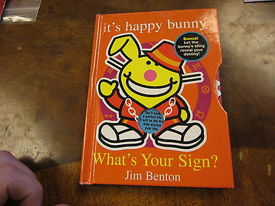 :: It's Happy Bunny by Jim Benton whats your sign  book hardcover humor